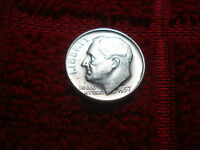 1957 D ROOSEVELT SILVER DIME BU BRILLIANT UNCIRCULATED