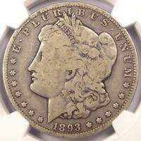 1893-O MORGAN SILVER DOLLAR $1 - NGC FINE DETAILS -  DATE - CERTIFIED COIN