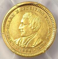 1904 LEWIS & CLARK GOLD DOLLAR G$1 - PCGS AU DETAILS -  CERTIFIED COIN