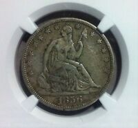 1856 S SEATED LIBERTY SILVER HALF DOLLAR    NGC XF 40