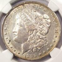 1893-O MORGAN SILVER DOLLAR $1 - NGC AU DETAILS -  KEY DATE CERTIFIED COIN