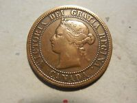1876H CANADIAN LARGE CENT. VG CONDITION. NICE COIN. BUT YOU DECIDE