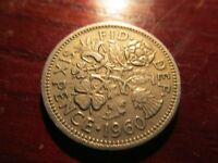 BRITISH UK PRE DECIMAL COIN SIXPENCE 1960 LOT 3