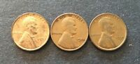 LOT OF 3 1932;1933;1934 LINCOLN WHEAT PENNIES ALL PHILADELPHIA