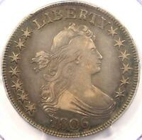 1806 DRAPED BUST HALF DOLLAR 50C - PCGS VF35 -  CERTIFIED COIN - $1550 VALUE