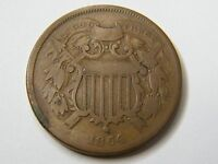 1864 TWO CENT PIECE SMALL MOTTO WITH SHIPS FREE