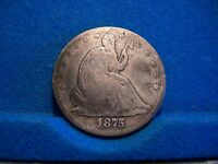 1875 SEATED HALF DOLLAR VG GOOD CONDITION