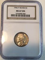 1942 P TYPE 2 GEM UNCIRCULATED MS67 5FS NGC