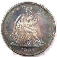 1883 SEATED LIBERTY HALF DOLLAR 50C   PCGS UNCIRCULATED MS UNC   8000 MINTED