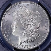 1879-S MORGAN SILVER DOLLAR PCGS MINT STATE 65 21-19CET