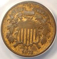 1872 TWO CENT PIECE 2C - ANACS F12 DETAILS FINE -  KEY DATE CERTIFIED COIN