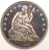 1853 ARROWS & RAYS SEATED LIBERTY HALF DOLLAR 50C   ANACS VF30 DETAILS