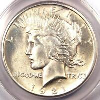 1921 PEACE SILVER DOLLAR $1   ANACS MS60 DETAILS    KEY DATE BU UNC COIN