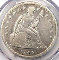 1844 SEATED LIBERTY SILVER DOLLAR $1   PCGS VF DETAILS    EARLY DATE COIN