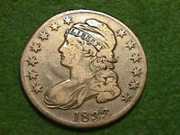 1833 CAPPED BUST HALF DOLLAR     AND BEAUTIFUL COIN