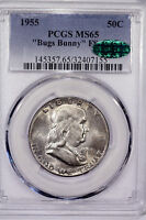 1955 P MS65 BUGS BUNNY FS 401 FRANKLIN HALF DOLLAR    PCGS CAC APPROVED