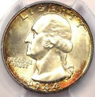 1944 WASHINGTON QUARTER 25C   CERTIFIED PCGS MS67    IN MS67   $525 VALUE