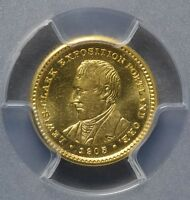 1905 CG$1 LEWIS AND CLARK GOLD COMEMMORATIVE DOLLAR  CAC  CHOICE  MINT STATE 64 PCGS