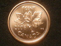 2006 P ONE CENT ''MAGNETIC' VAR. CANADA PROOF LIKE LOW MINTAGE