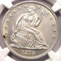 1879 SEATED LIBERTY HALF DOLLAR 50C   NGC UNCIRCULATED DETAIL MS UNC    DATE