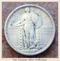 1917 TYPE ONE STANDING LIBERTY SILVER 25 C QUARTER AU