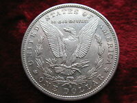 1887-S MORGAN SILVER DOLLAR, ALMOST UNCIRCULATED UNGRADED, UNCERTIFIED COIN.