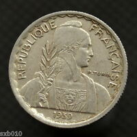 FRENCH INDOCHINA 10 CENTS  1939 MAGNETIC . KM21.1  EXACT ITEM PICTURED. 01