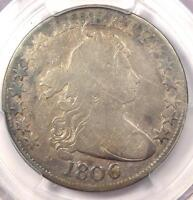 1806/9 DRAPED BUST HALF DOLLAR 50C COIN O-111 INVERTED 6 - PCGS VG DETAILS