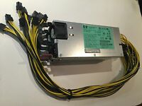 2400W POWER SUPPLY KIT: 2X HP 1200W PSUS W/ 10 PCI E POWER FOR ANTMINER S7 S9