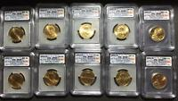 ONE 1 2007 P & D DOLLAR SET FIRST DAY ISSUES MATCHING NUMBERS ICG SATIN SATIN FINISH 69