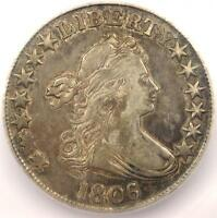 1806/5 DRAPED BUST HALF DOLLAR 50C - CERTIFIED ICG EXTRA FINE 40 EF40 - $2,150 VALUE