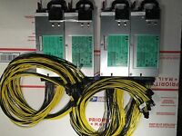 LOT OF 2: 2400W POWER SUPPLY KITS: 2X HP 1200W PSUS 10 PCI E FOR ANTMINER S9 S7