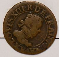 F0084 FRANCE 1616 X DOUBLE TOURNOIS  LOUIS XIII AMIENS COMBINE SHIPPING
