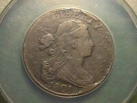 1801 DRAPED BUST LARGE CENT ANACS VF30 WITH BIG CUDS NICE 1/000 ERROR