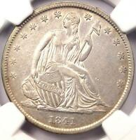 1841 O SEATED LIBERTY HALF DOLLAR 50C   NGC AU DETAILS