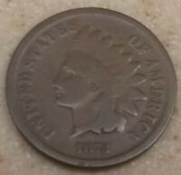 1873   CLOSED 3   INDIAN HEAD SMALL CENTS   PENNY   G 4   LOT 1