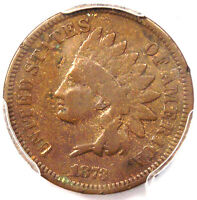 1873 DOUBLED LIBERTY INDIAN CENT PENNY 1C   PCGS VG DETAILS    VARIETY
