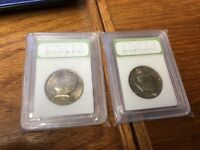 LOT OF 2 1976 P AND D KENNEDY SLAB COINS LOT 25
