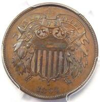 1864 TWO CENT PIECE 2C - PCGS UNCIRCULATED DETAIL MS UNC -  CERTIFIED COIN