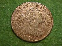 1800 DRAPED BUST LARGE CENT   COIN ON OVERSIZE PLANCHET