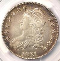 1821 CAPPED BUST HALF DOLLAR 50C   PCGS AU DETAILS    CERTIFIED COIN