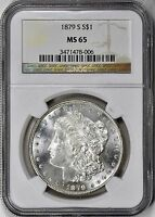1879-S MORGAN DOLLAR NGC MINT STATE 65  BLAST WHITE W/STUNNING LUSTER ALL AROUND