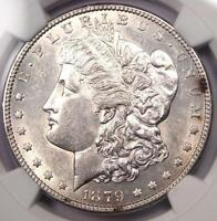 1879-S REVERSE OF 1878 MORGAN SILVER DOLLAR $1 - NGC UNCIRCULATED DETAIL MS BU