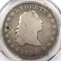 1795 FLOWING HAIR SILVER DOLLAR $1 COIN 3 LEAVES   CERTIFIED PCGS GOOD DETAIL