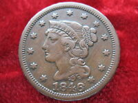 1846 U.S. LARGE CENT BETTER GRADE ORIGINAL BEAUTY HISTORIC COIN CIRCULATED.