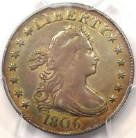 1806 DRAPED BUST QUARTER 25C B 4   PCGS VF DETAILS    EARLY CERTIFIED COIN