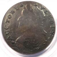 1787 AUCTORI PLEBIS COLONIAL COPPER COIN   PCGS XF40 EF40   $850 VALUE