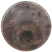 1801 DRAPED BUST LARGE CENT 100/000 S 221. ANACS VF DET / NET F12  $450 IN F12
