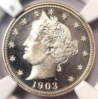 1903 PROOF LIBERTY NICKEL 5C - NGC PR67 CAMEO PF67 PQ - $4,100 VALUE