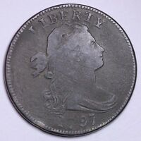 FINE 1797 DRAPED BUST LARGE CENT COOL PIECE OF HISTORY R1CTX